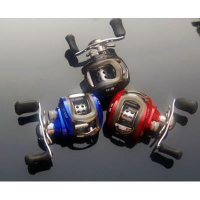 11轴磁力刹车路亚轮水滴轮哈巴轮横向轮红蓝黑三色左右可选