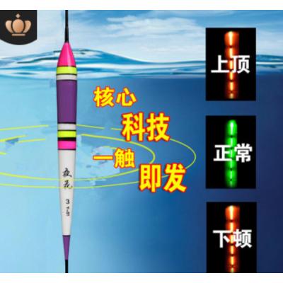 智能报警咬钩变色电子漂夜光漂微重力感应夜钓鱼漂渔具浮标