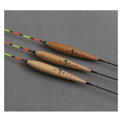 渔艺 优质巴尔杉木浮漂 枣核型鱼漂 123号渔漂套装 三角加粗尾