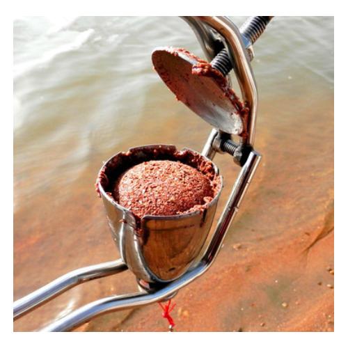 外贸跨境专供爆炸钩鱼饵成型器不锈钢炸弹钩鱼饵料压饵器上饵器渔
