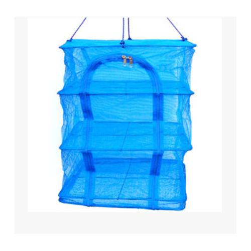 晒鱼笼50cm 可折叠晒鱼网 渔网 蔬菜干晒网餐厨网收纳网
