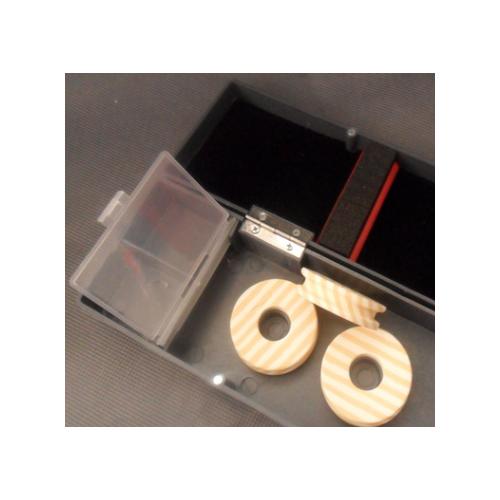 仿铝浮漂盒 多功能漂盒 带剪刀子线仕挂盒 垂钓渔具批发子线盒