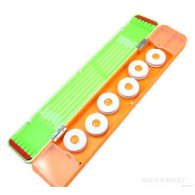 厂家批发 新款彩绘浮漂盒 鱼漂盒 三层主线子线多功能漂盒渔具